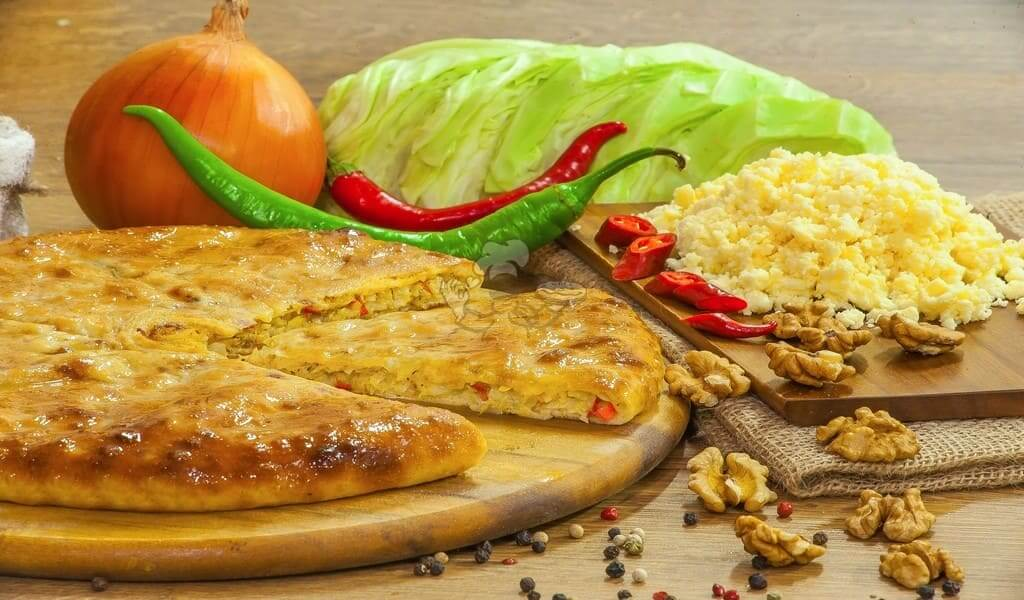 Pie with cabbage, cheese and walnuts - 3piroga.com.ua