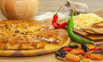 Turkey Meat Pie, Dried Fruit, Ricotta Cheese and Jalapeno Peppers - 3piroga.ua