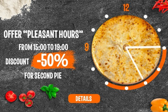 Pleasant hours to order pies